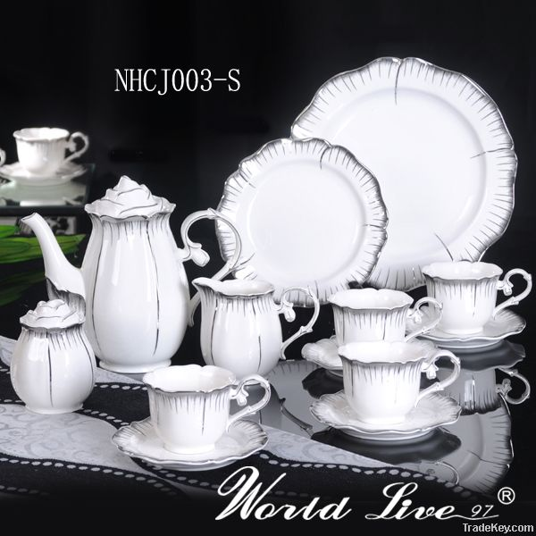 White Porcelain Coffee Cup Sets