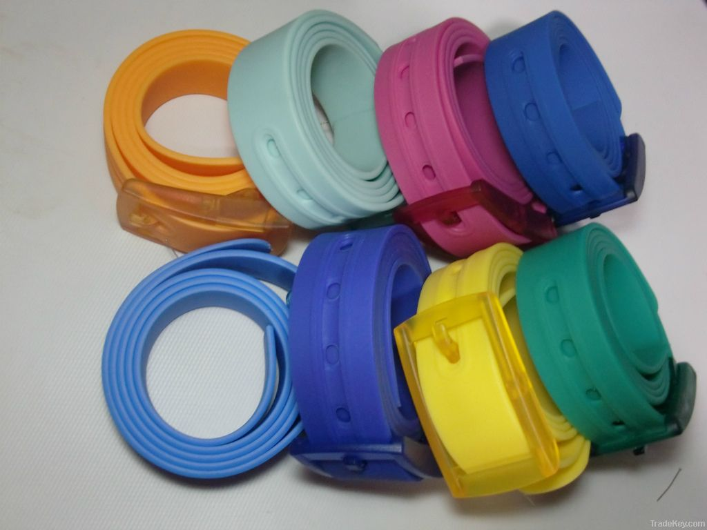 2012 silicone belt with plastic buckle