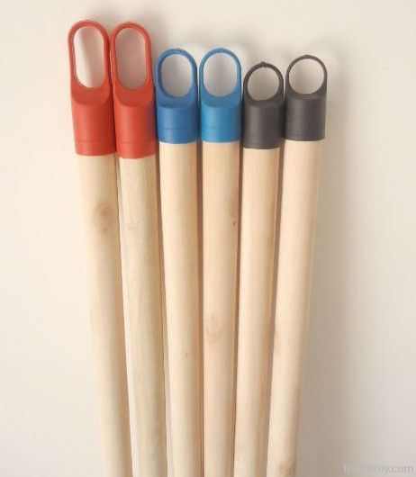 Natural wooden broom handle