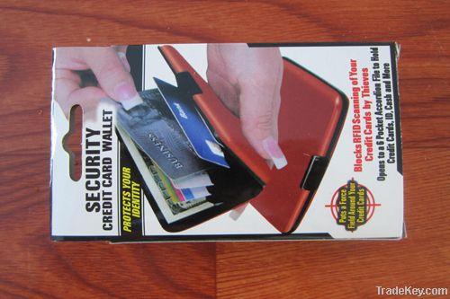 security credit card wallet/holders, aluminium card wallet