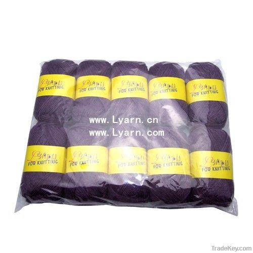 50g 10balls acrylic blended yarn in OPP bag