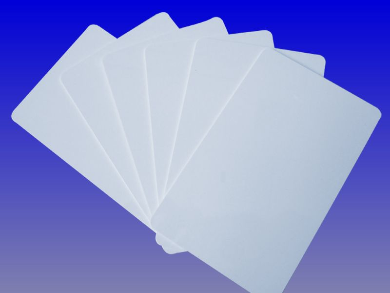 white plastic uhf rfid pvc card
