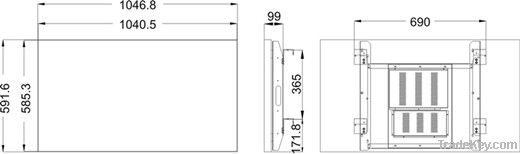LG 47 inch lcd video wall with narrow of 6.9mm