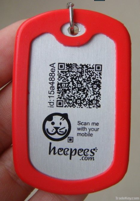 Silicone pet id tags for dog