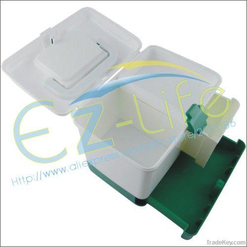 Plastic multi-purpose first aid kit, home medicine organizer case, fir