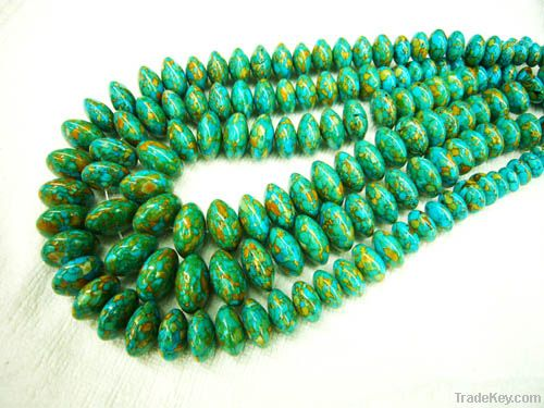 Nature turquoise beads and accessories