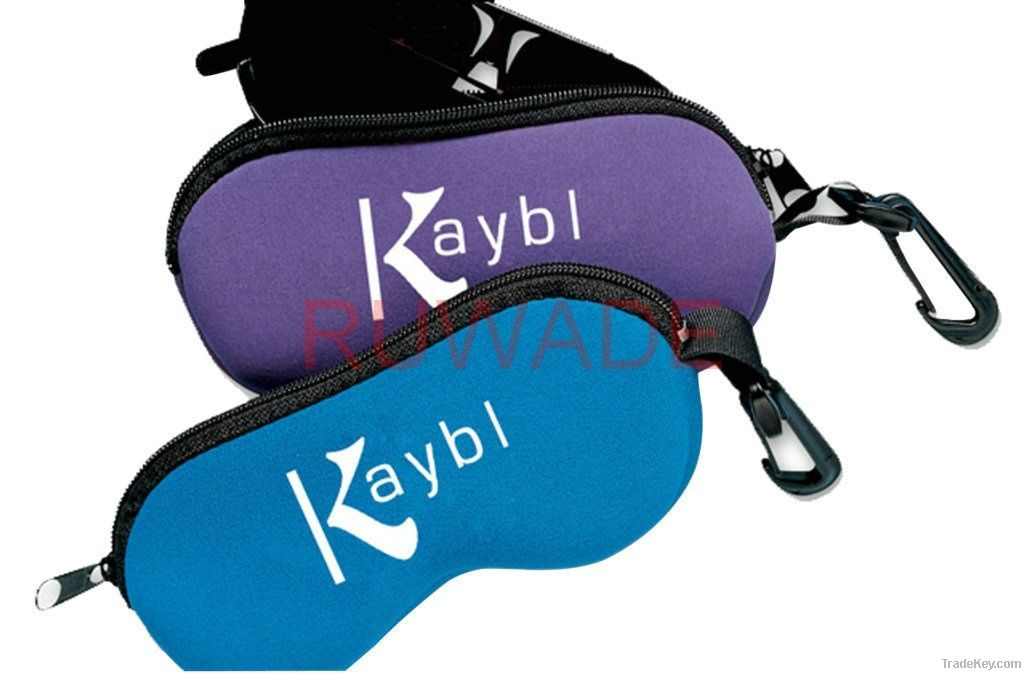 Neoprene sunglasses bag
