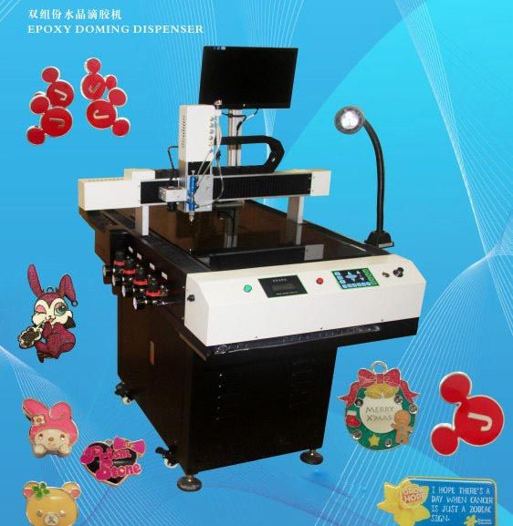 epoxy resin sticker doming Machine