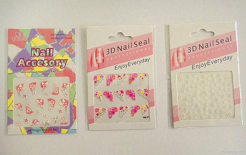 Hot Sell Fashion Beautiful Nail Polish Stickers