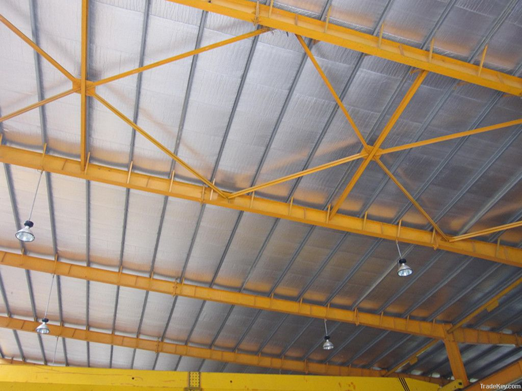 Aluminum foil Single side Bubble Heat Insulation , For Roof, Wall