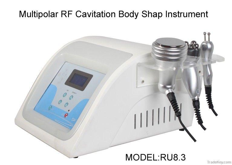 RU8.3 Multipolar RF and cavitation slimming beauty equipment