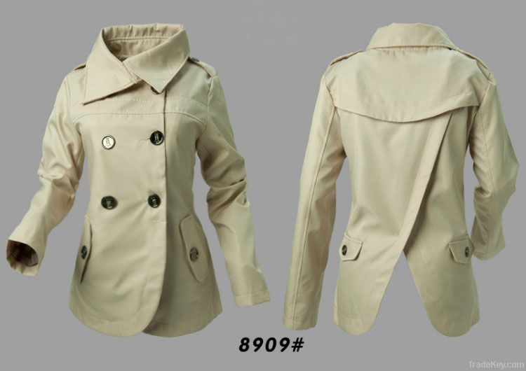 2012 spring hot sell ladies coats long sleeve