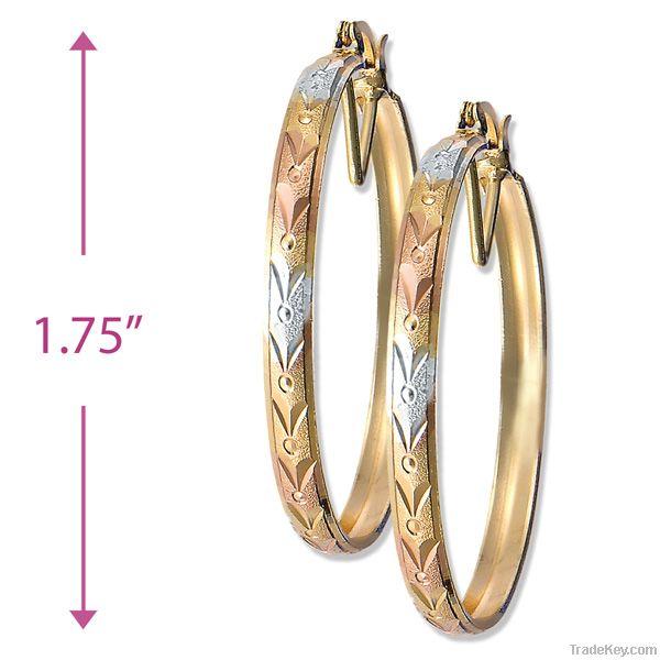 Bangle hoop earrings