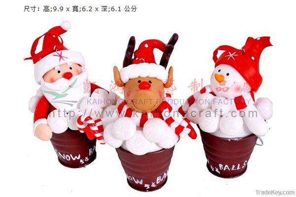 Polymer clay for christmas Santa display