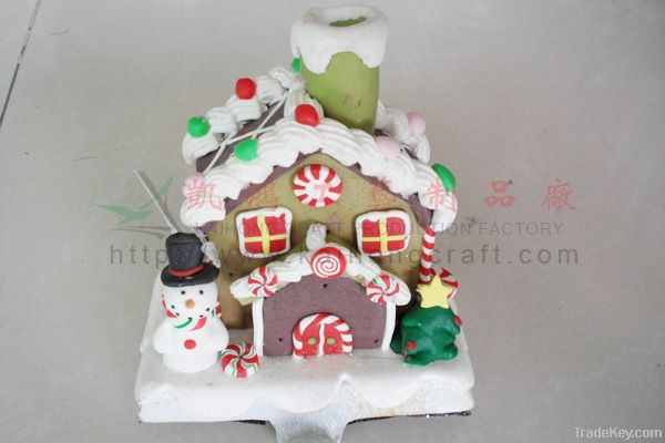 Polymer clay dough of personalized christmas house
