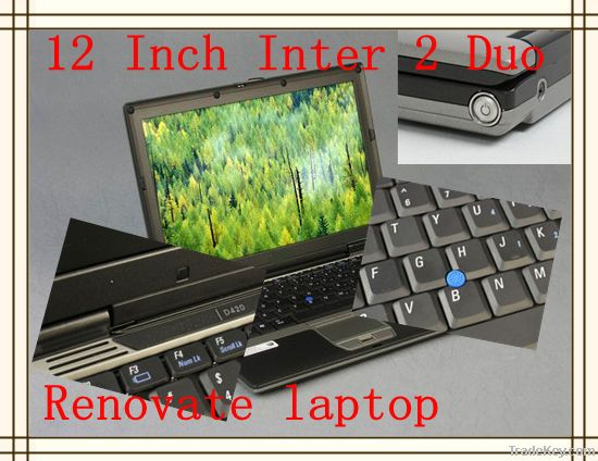 12 inch original Core Duo U2500 1g/60gig used laptop