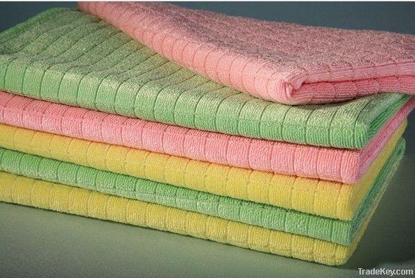 Microfiber Lattice Weft Knitted Handkerchief