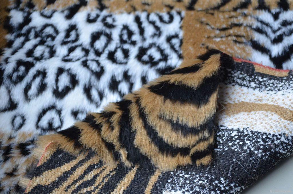 jacquard high pile faux fur