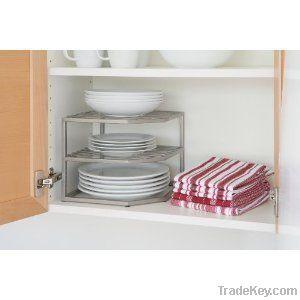 Kitchen Shelf Cabinet Organizer Plate Cup Wire Rack Corner ...