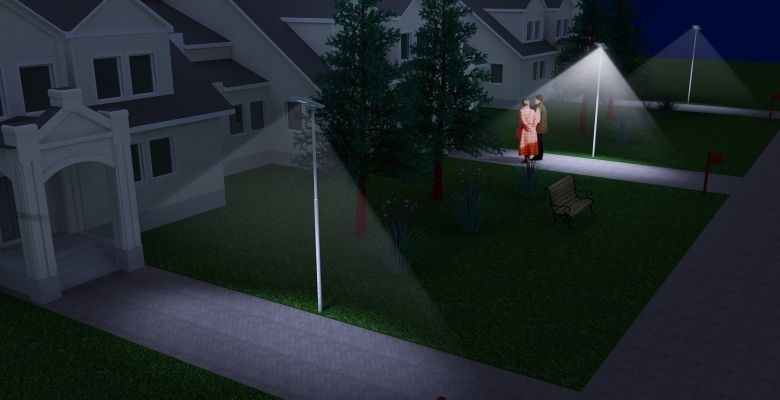 motion sensor Quality outdoor lighting parking lot discount 55w 50w 60w led all in one solar street light lamp