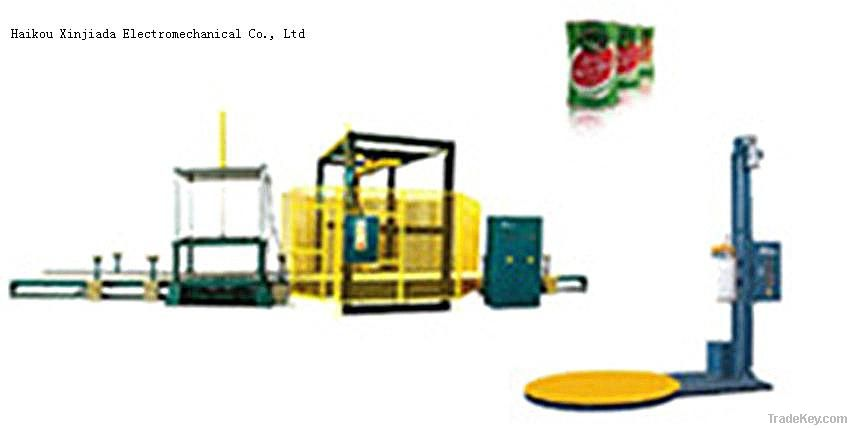 Pallet stretch  film wrapper winding machinery for empty tin cans