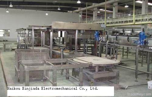 Can Cage unloader machine for filled cans sterilize to retorts