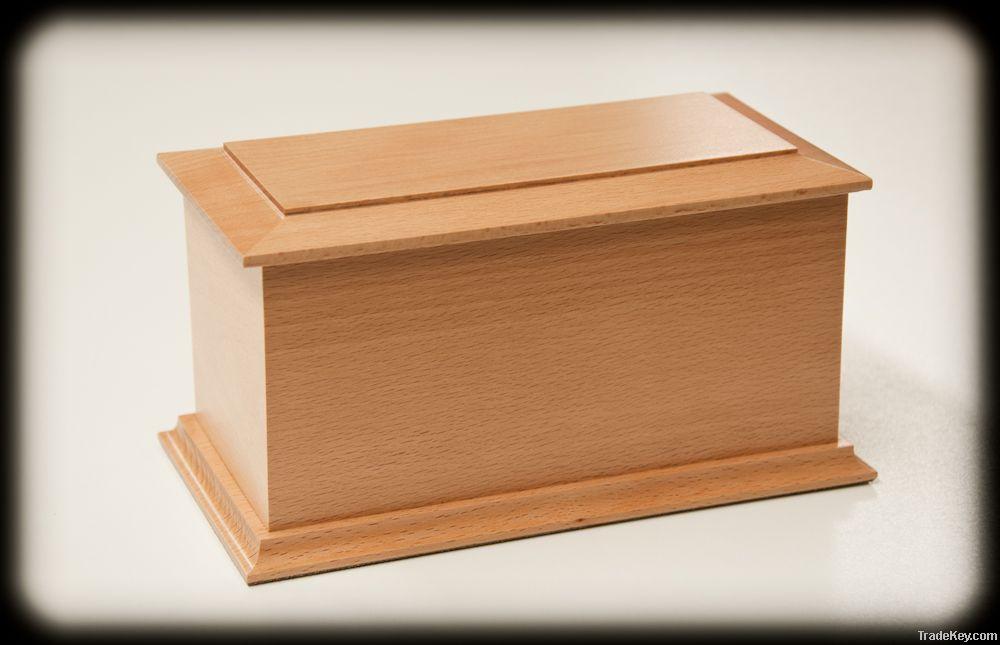 wooden urns caskets