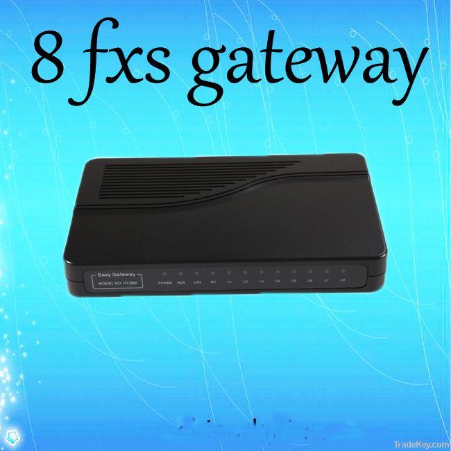 8-fxs voip gateway