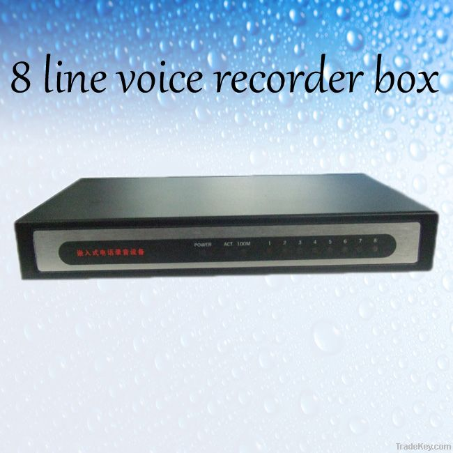 8 lines voice recorder box