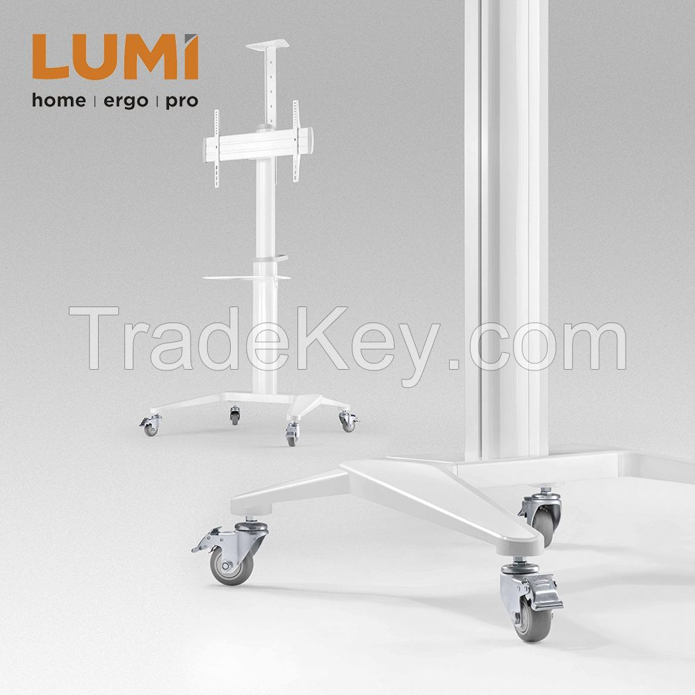 Ultra-Modern Aluminum Mobile TV Cart