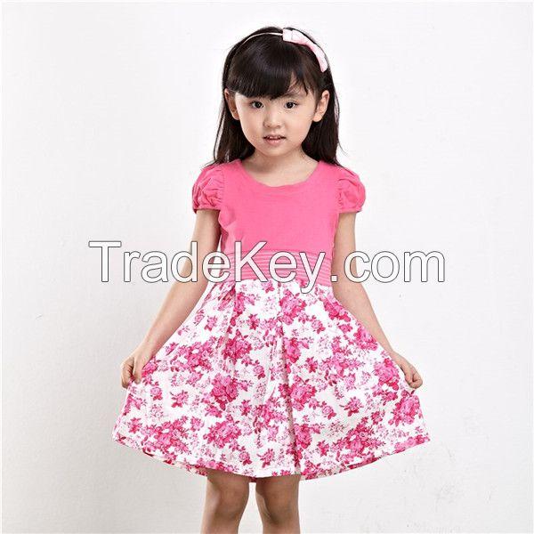 Summer girl print dress