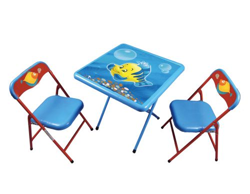 Baby fold table and chair