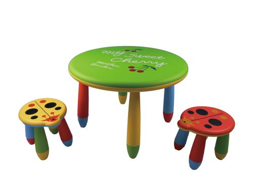 Baby round table and chair
