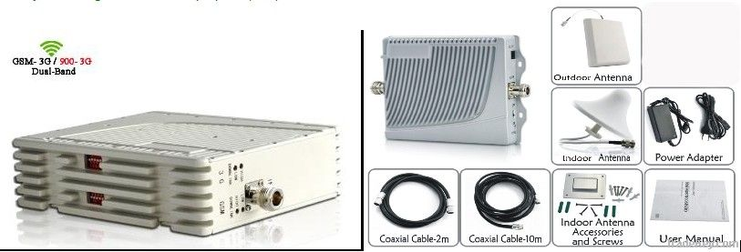 single/dual band cellphone signal booster/repeater/amplifier