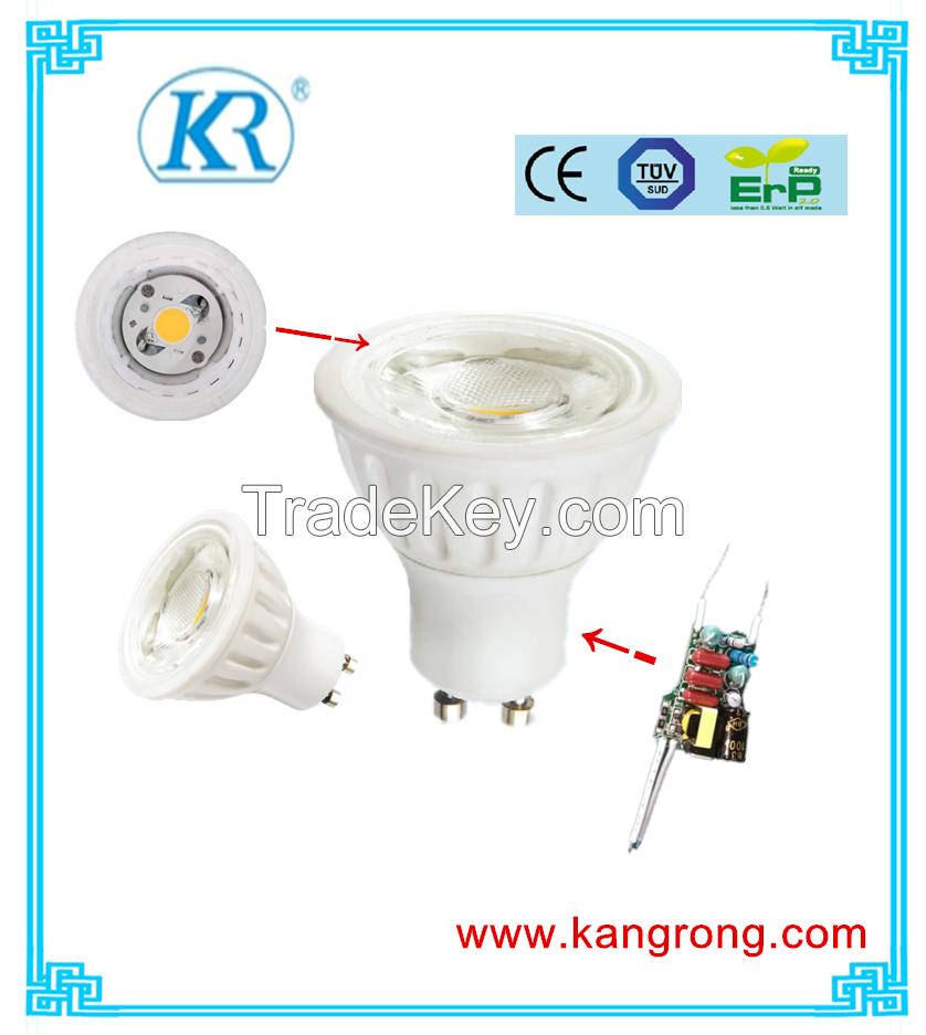 7W TUV, CE GU10 cob spot light/LED Ceramic Spot light/down light