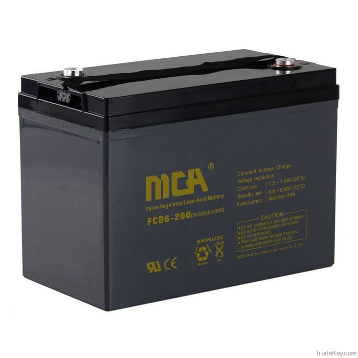 deep cycle gel  battery 6V-200