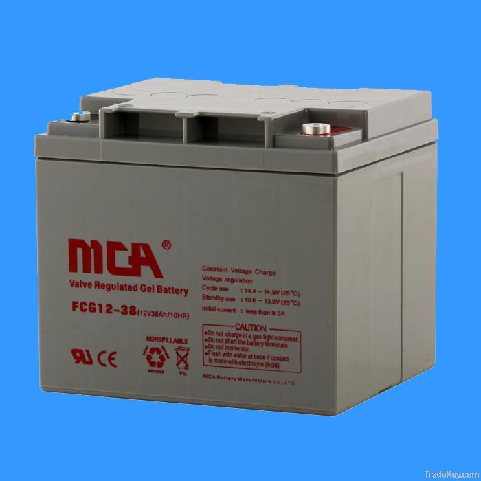 GEL batteries 12V-38AH