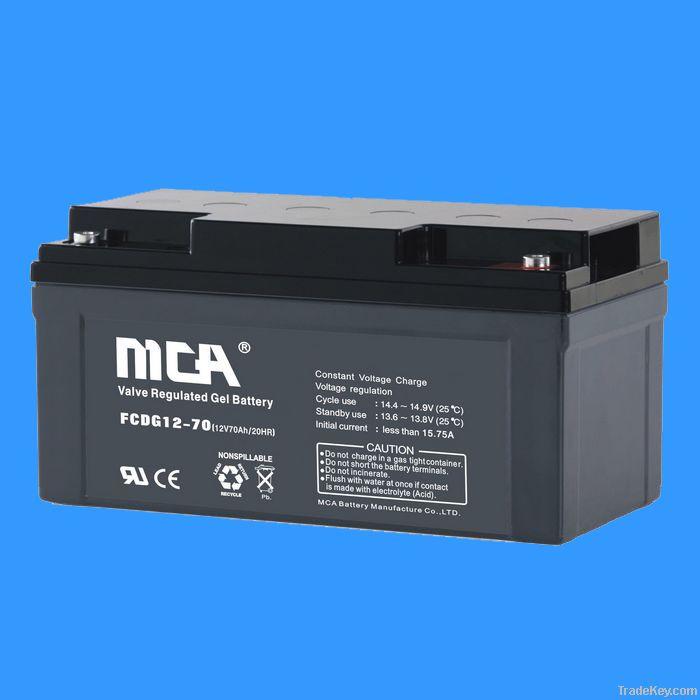 Solar battery+ deep cycle+ Gel battery