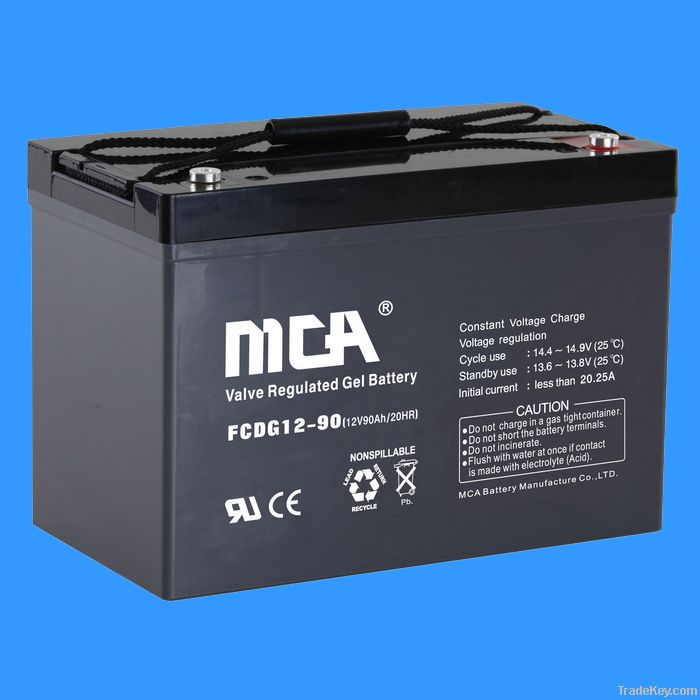 deep cycle + gel  battery+ solar battery 12v-90ah