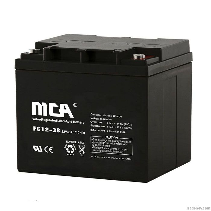 VRLA  battery 12V-38AH
