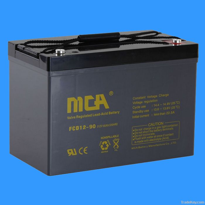 deep cycle sealed lead acid battery 12V-90AH