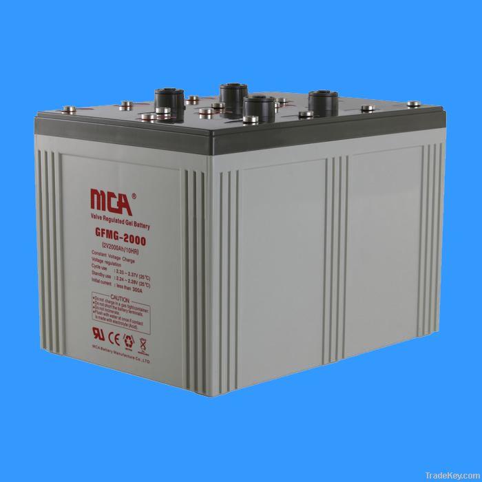 VRLA battery + Gel battery 2V-2000AH
