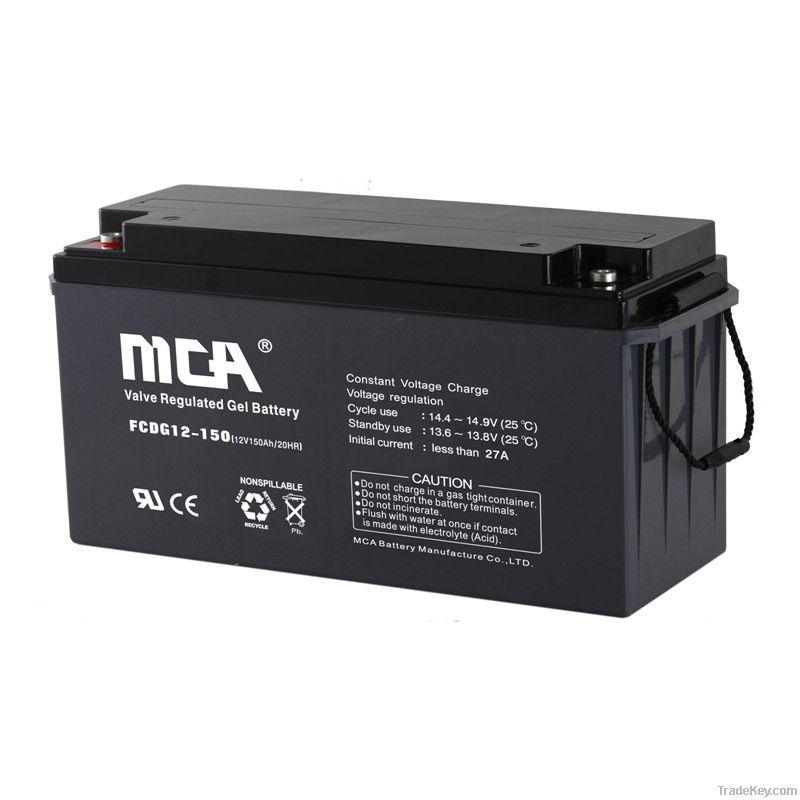 Deep cycle Gel Batteries12V-150AH