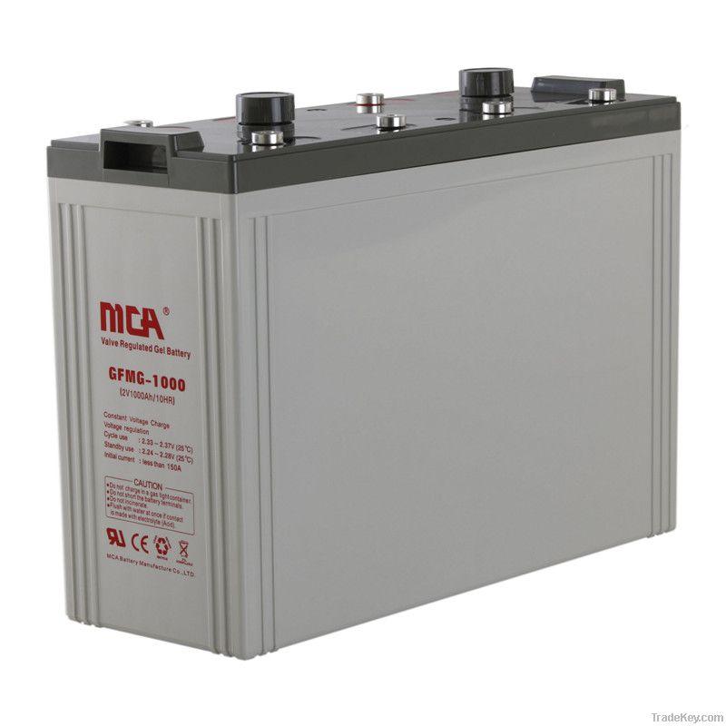 Stationary 2v Gel batteries 2V, 1200AH