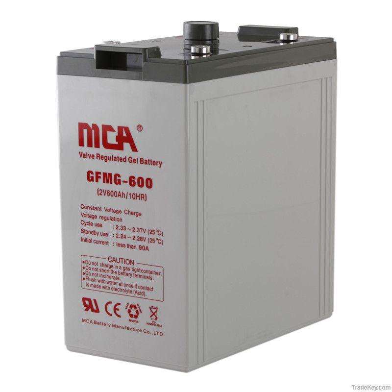 Stationary 2v Gel batteries 2V, 600AH