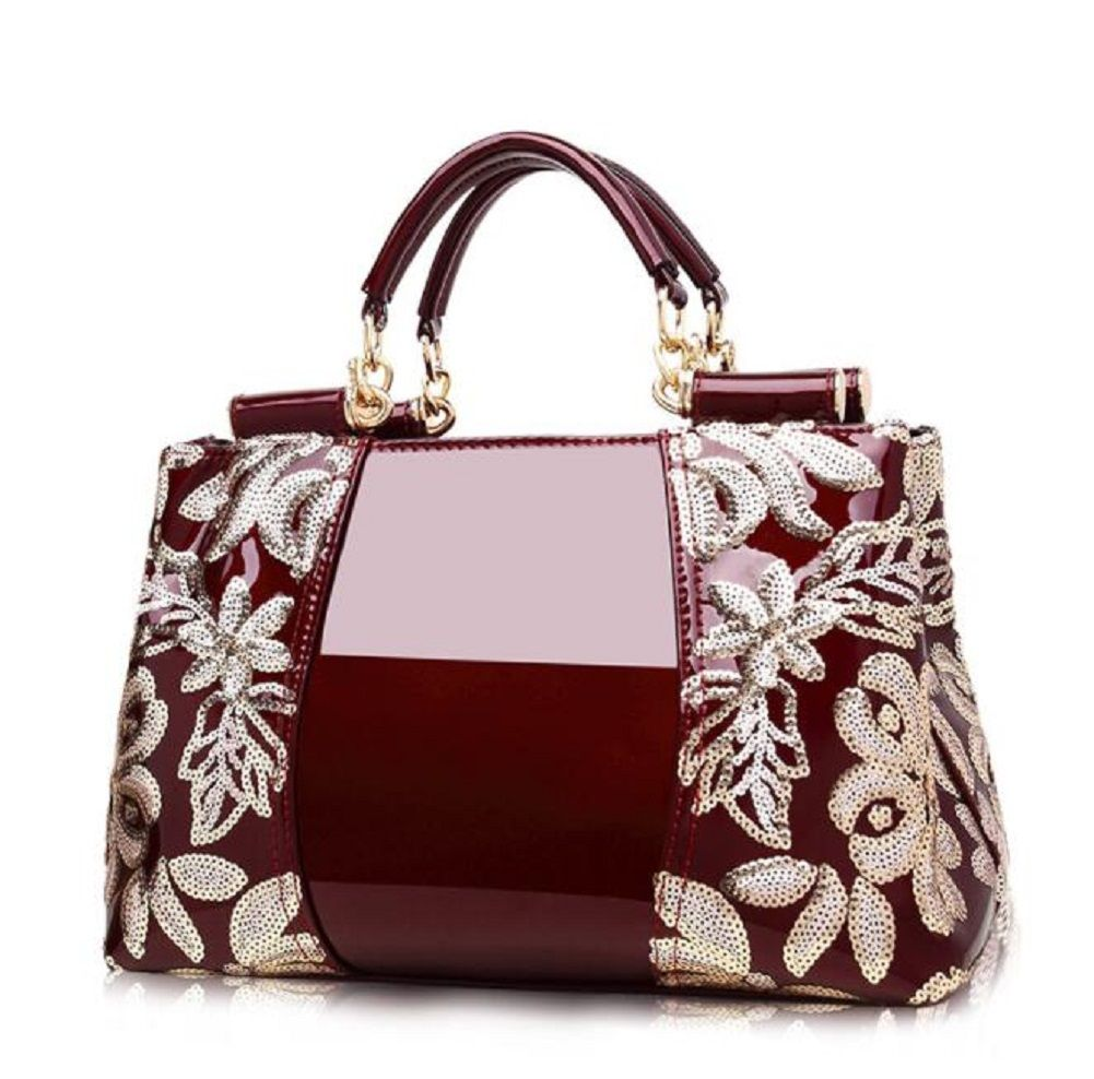 Womens Handbags Top Handle Bags Leather embroidery Shoulde dinner party bag Toet