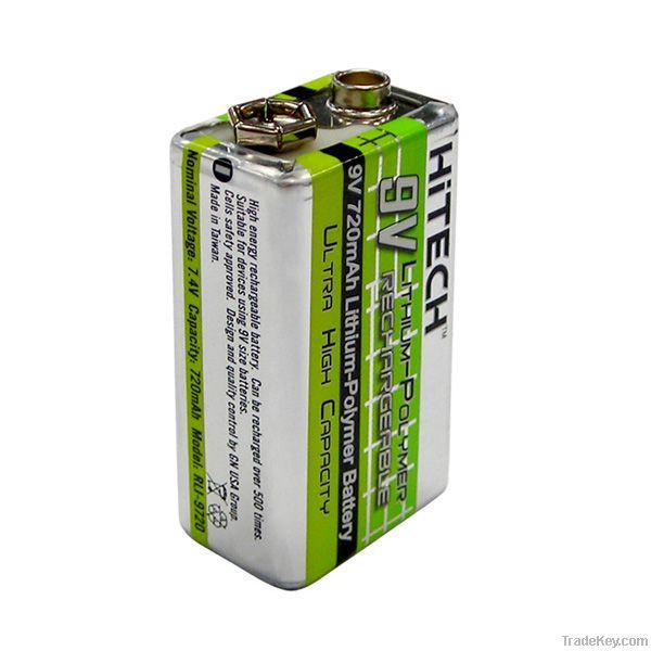 9V Rechargeable Li lon polymer battery