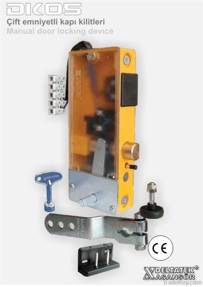 Elevator buttons and buttons panel, door locks, door closers, overspee