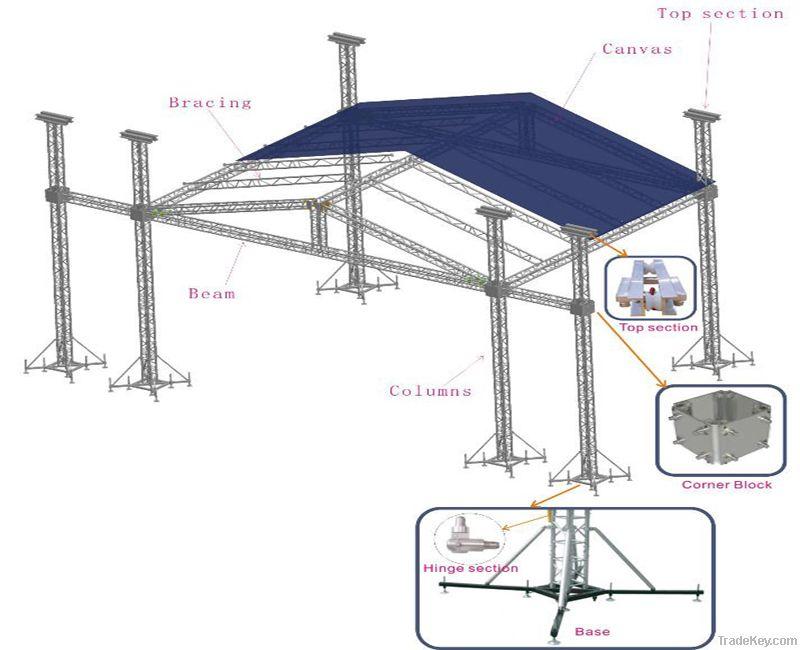 Best sale outdoor roof truss system, aluminum roof truss