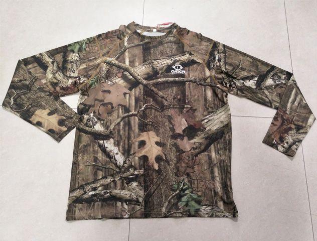New Designed merino wool natural camo long sleeve hunting t-shirt  Quick Dry Camo Combat Long Sleeve Hunting T-shirts